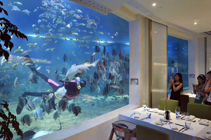 三亚亚龙湾有海底世界餐厅吗?
