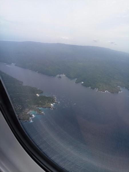 俯瞰火山下的巴厘岛  这天找vivian订的潜水艇一日游,奥德希观光