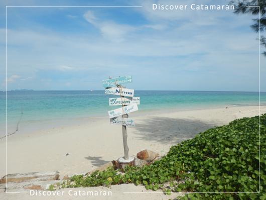 双体帆船蜜月岛一日游(discover catamaran)