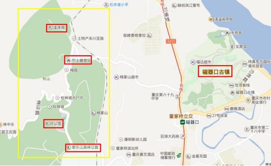 重庆的景点都分布在哪里 来一张最全旅行地图