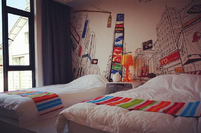 背景墙 房间 家居 酒店 设计 卧室 卧室装修 现代 装修 671_444
