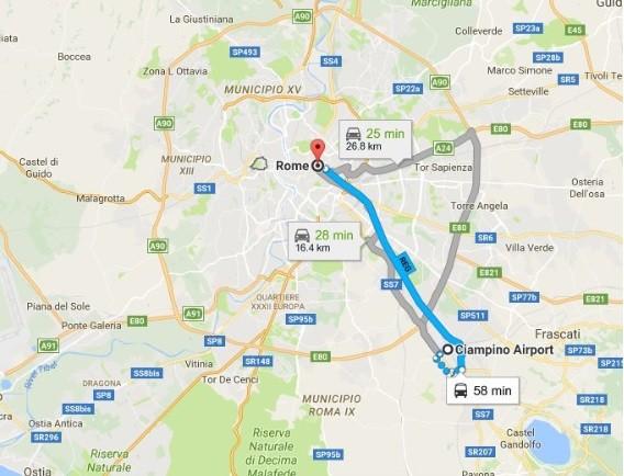 从罗马机场到火车站是坐巴士好还是火车?谢谢