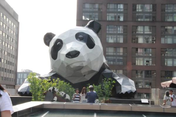 壁纸 大熊猫 雕塑 动物 狗 狗狗 600_400