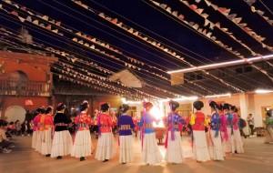 泸沽湖娱乐-摩梭族篝火晚会