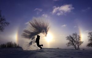 【乌兰布统图片】《冰雪坝上》 ——大浪汪洋