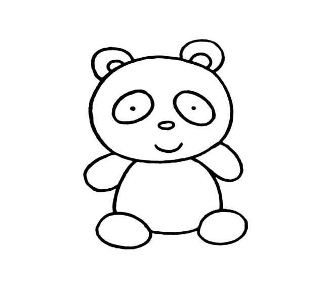 简单的大熊猫简笔画