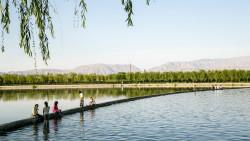 张掖景点-润泉湖公园