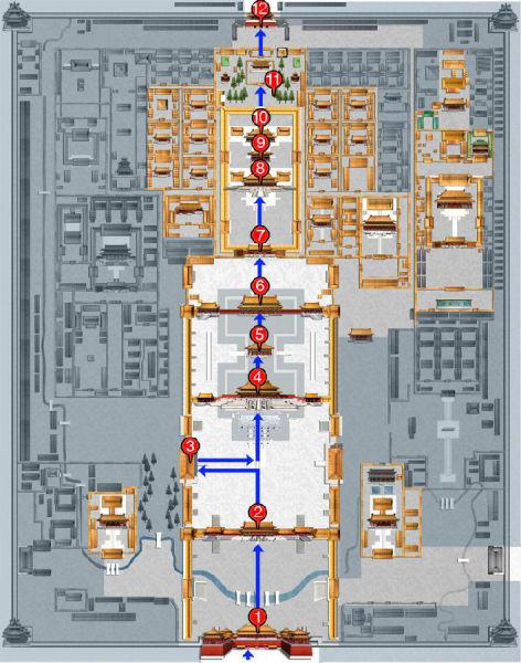 北京故宫游览路线,故宫最佳游览路线,故宫游览需要多长时间