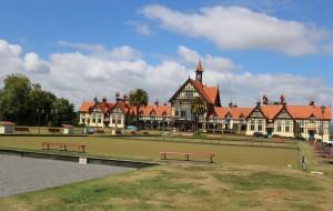 【罗托鲁瓦图片】新西兰罗托鲁瓦市政厅花园风景区实拍