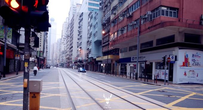 街景透视图 黑白简单