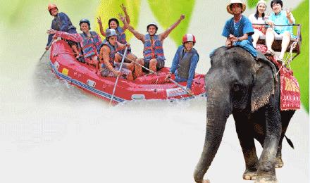 泰国普吉岛 攀牙湾漂流+沙发里骑大象一日游