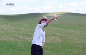 【满洲里图片】瑜伽垫陪我在大草原上懒懒的游荡,慢享呼伦贝尔的美!