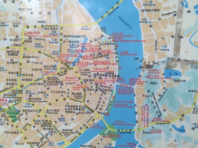 潮州古城手绘地图